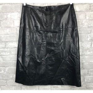 Banana Republic Black Soft Leather Skirt